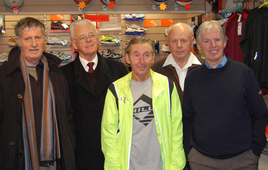 Ron Hill pictured with Liam O\'Leary, Pat Buckley, Fergus O\'Donovan and John Buckley. Picture: John Walshe