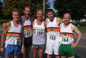 Dan Kennedy, Cathal O'Connell (2nd O/45), Paul Dinan, Derek O'Leary and John Landy